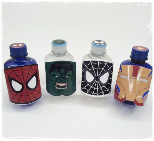 Agua Homem de Ferro, Homem Aranha e Hulk