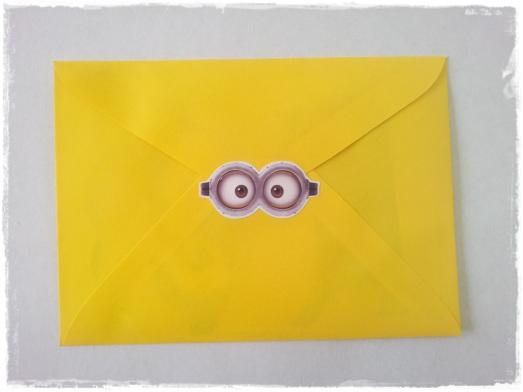 Envelope Convite Minions