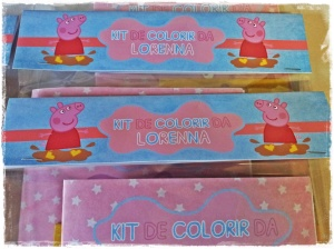 Kit de colorir Peppa Pig
