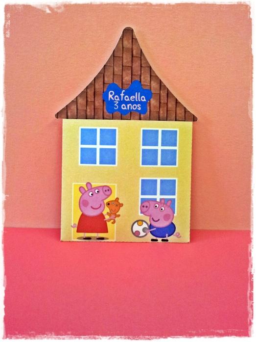 Convite Casa Peppa Pig