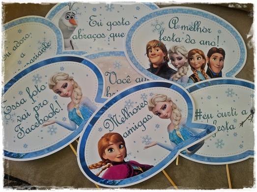 Placa divertida Frozen